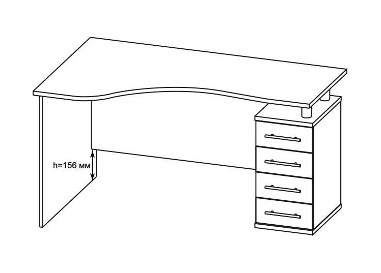 Компьютерный стол Форвард-1 КСТ-104.1 + КН-14 от Столплит