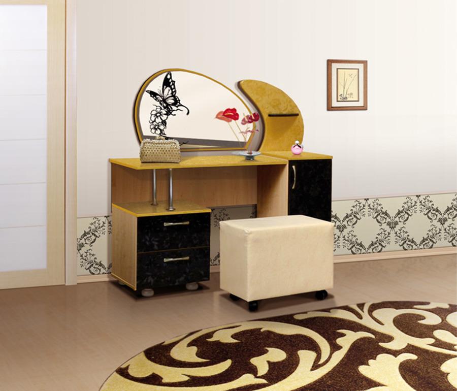 Стол туалетный ОрхидеяТуалетные столики<br><br><br>Длина мм: 1260<br>Высота мм: 1400<br>Глубина мм: 480
