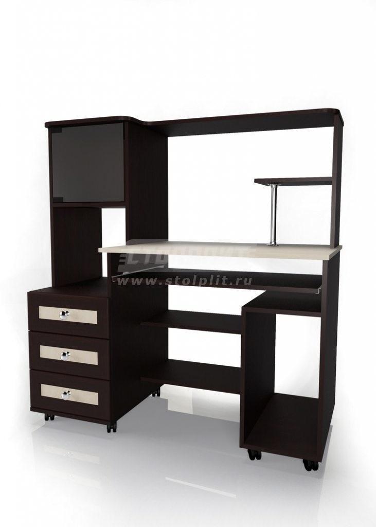 Стол для компьютера МБ – 25Кабинет<br><br><br>Длина мм: 1200<br>Высота мм: 1275<br>Глубина мм: 600
