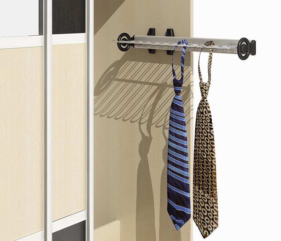 Вешалка для галстуковКомплектующие<br>Чтобы не только ваша повседневная и праздничная одежда, но и любимые аксессуары к ней были в порядке, обратите внимание на сопутствующие товары, например, вешалку для галстуков.<br><br>Длина мм: 0<br>Высота мм: 0<br>Глубина мм: 0