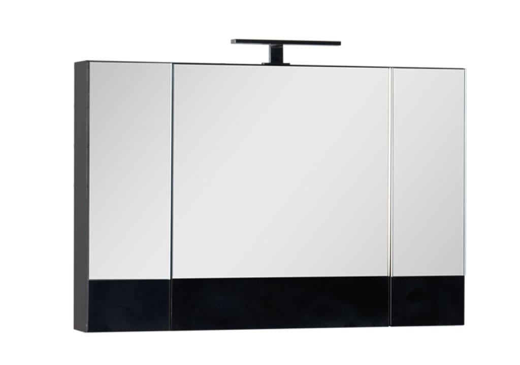 Зеркало Aquanet Нота 100 черныйЗеркало- шкаф для ванной<br><br><br>Длина мм: 0<br>Высота мм: 0<br>Глубина мм: 0<br>Цвет: Чёрный глянец