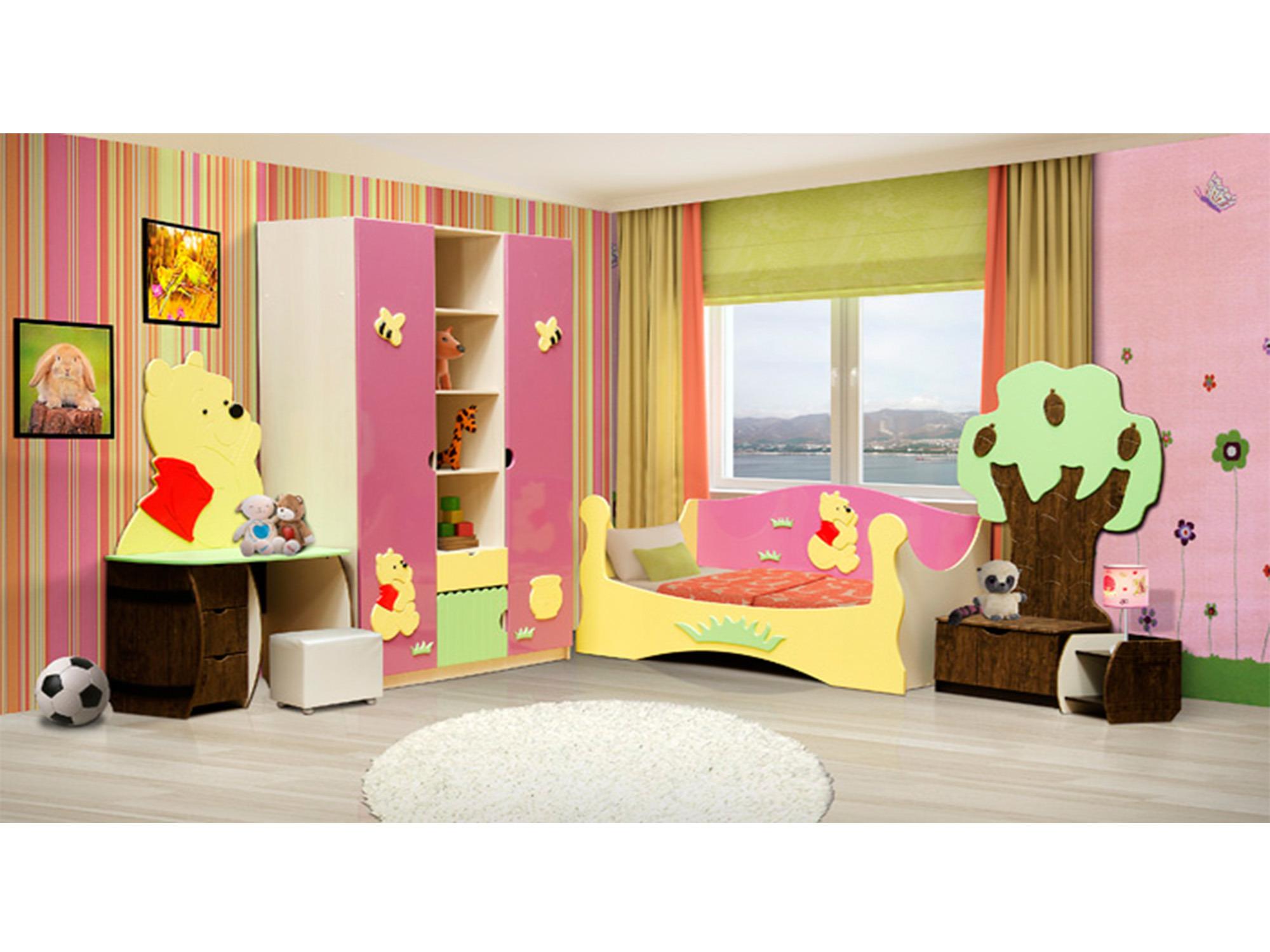 Спальный гарнитур МедвежонокДетские комнаты<br><br><br>Длина мм: 3940<br>Высота мм: 2200<br>Глубина мм: 550