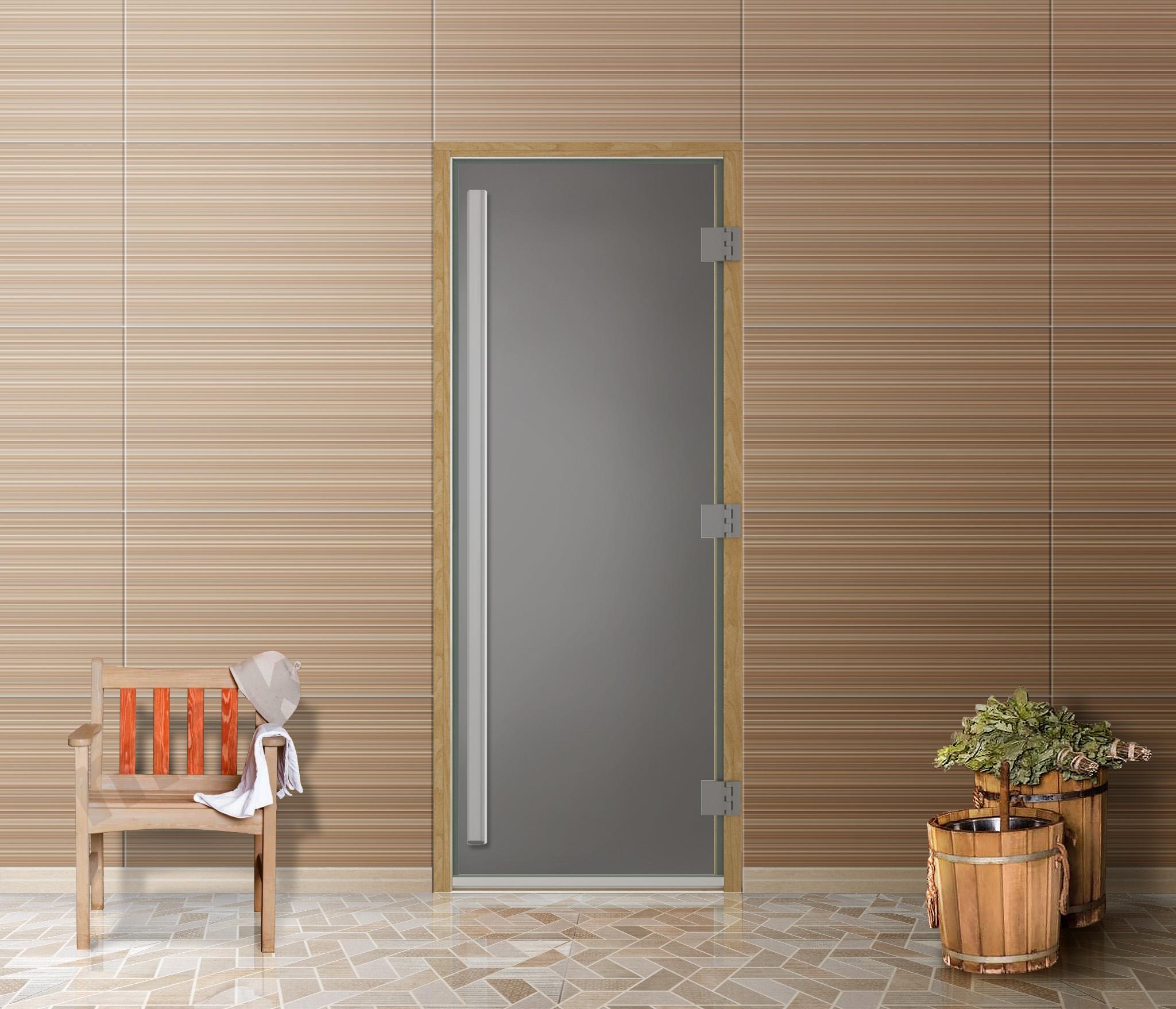 Дверь для бани и сауны Престиж MP_ST8_19070 матовое бц, 190*70