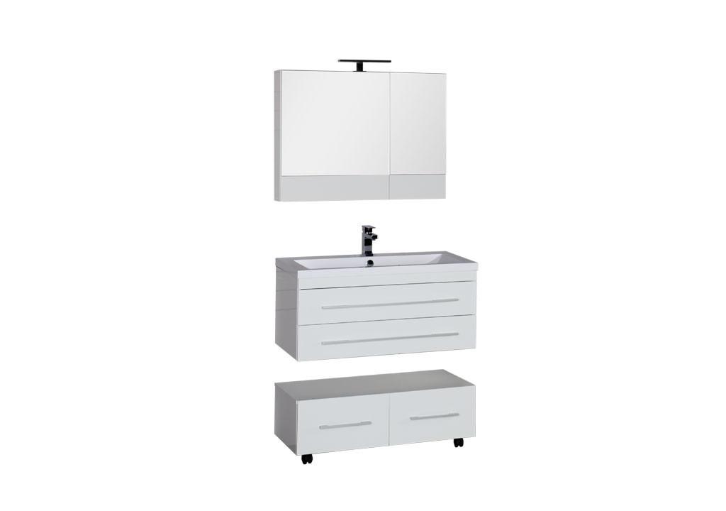 Комплект мебели Aquanet Нота 90 белый (камерино)Комплекты мебели для ванной<br><br><br>Длина мм: 0<br>Высота мм: 0<br>Глубина мм: 0<br>Цвет: Белый