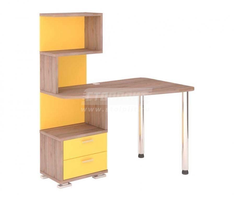 Стол компьютерный СКМ-60 НКомпьютерные столы<br><br><br>Длина мм: 1200<br>Высота мм: 1450<br>Глубина мм: 780<br>Цвет: Нельсон/Желтый