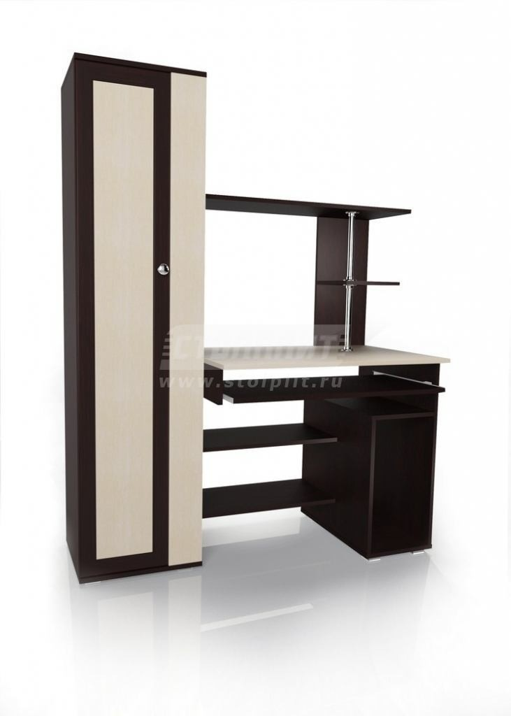 Стол для компьютера МБ – 31Кабинет<br><br><br>Длина мм: 1300<br>Высота мм: 1700<br>Глубина мм: 600