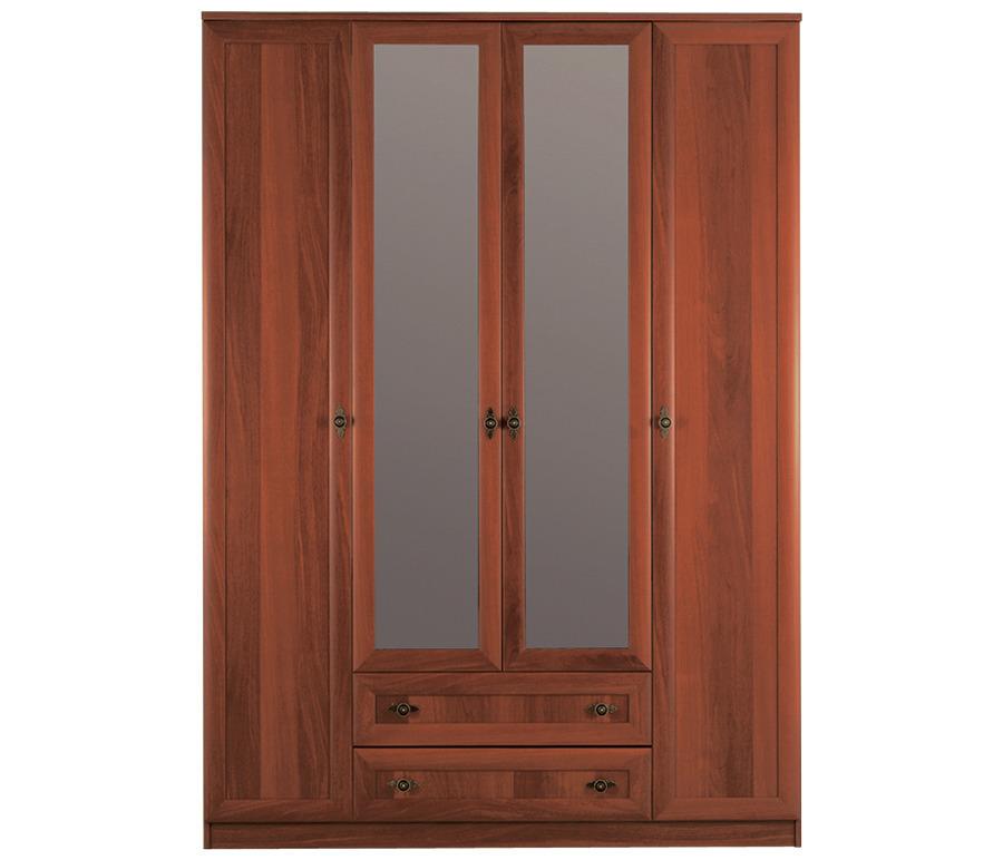 Джорджия СБ-074 Шкаф 4-х дверный с зеркаломШкафы<br>Классический вместительный шкаф с зеркальными дверцами.<br><br>Длина мм: 1600<br>Высота мм: 2236<br>Глубина мм: 590