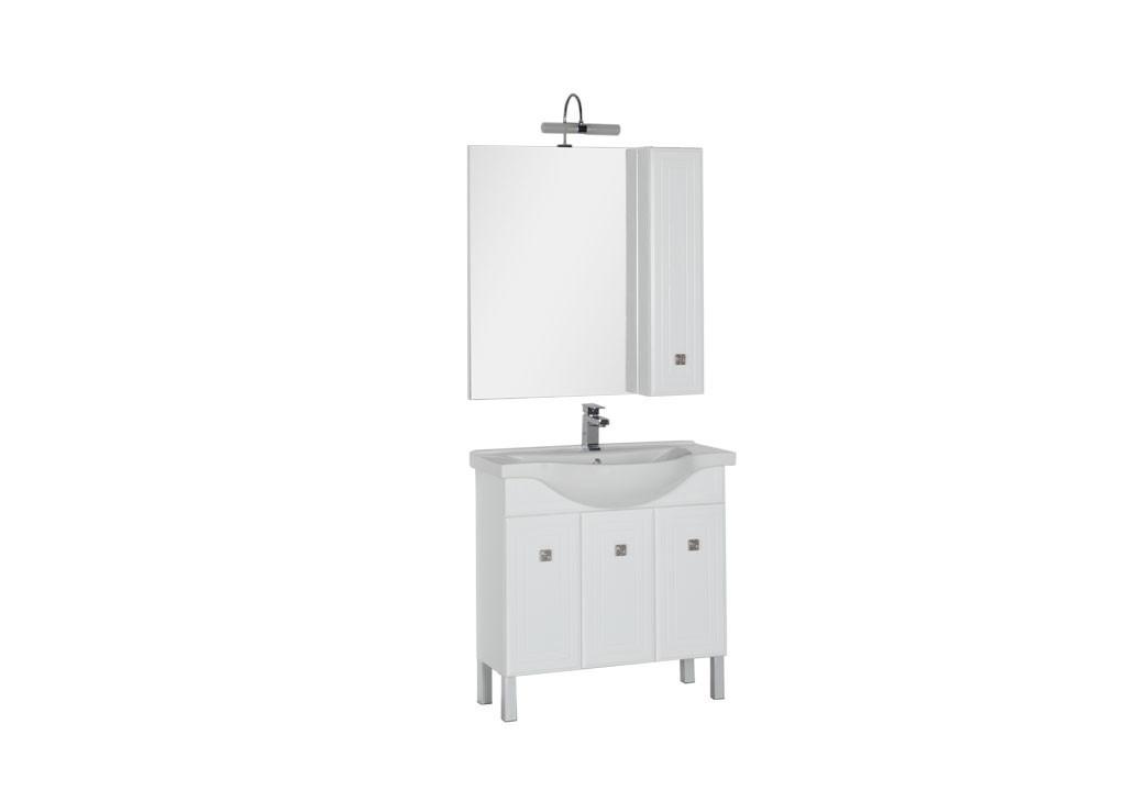 Комплект мебели Aquanet Стайл 85 белый (3 дверцы)Комплекты мебели для ванной<br><br><br>Длина мм: 0<br>Высота мм: 0<br>Глубина мм: 0<br>Цвет: Белый