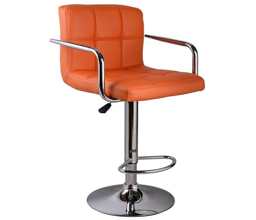 Барный стул HW50133ORСтулья<br><br><br>Длина мм: 450<br>Высота мм: 0<br>Глубина мм: 430<br>Цвет: Оранжевый