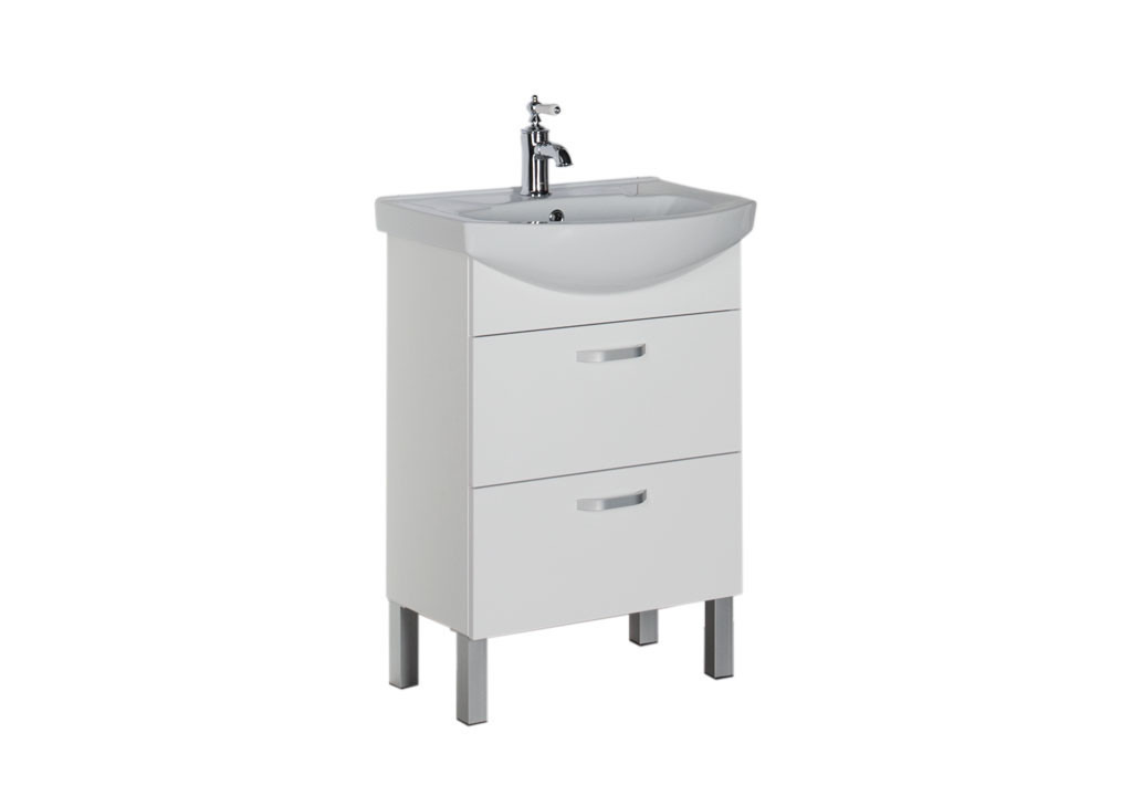 Тумба Aquanet Алькона 60 белый (2 ящика)Тумбы с раковиной для ванны<br><br><br>Длина мм: 0<br>Высота мм: 0<br>Глубина мм: 0<br>Цвет: Белый
