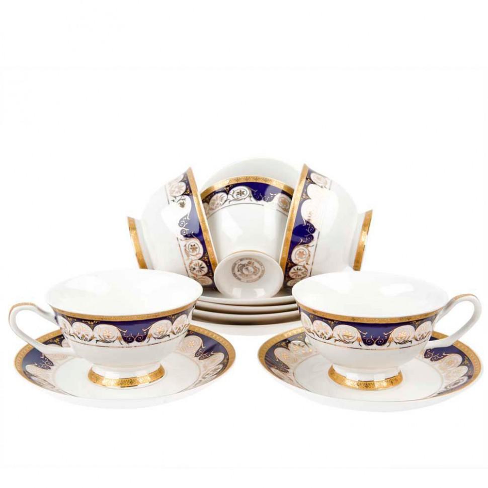 Набор чайных пар фарфоровых на 6 персон 200 мл