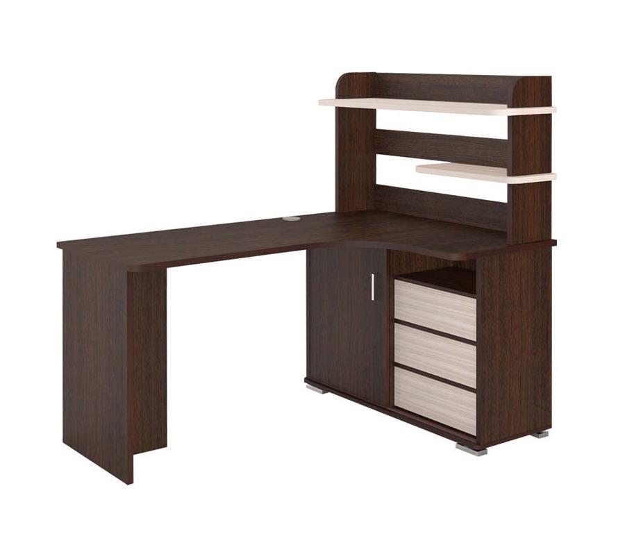Стол компьютерный с надстройкой СР-165Компьютерные столы<br><br><br>Длина мм: 1600<br>Высота мм: 1385<br>Глубина мм: 1160