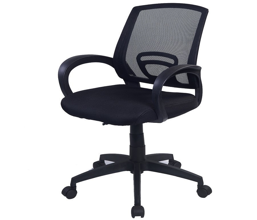 Кресло для персонала CB10061Компьютерные<br><br><br>Длина мм: 470<br>Высота мм: 0<br>Глубина мм: 480<br>Цвет: Черный