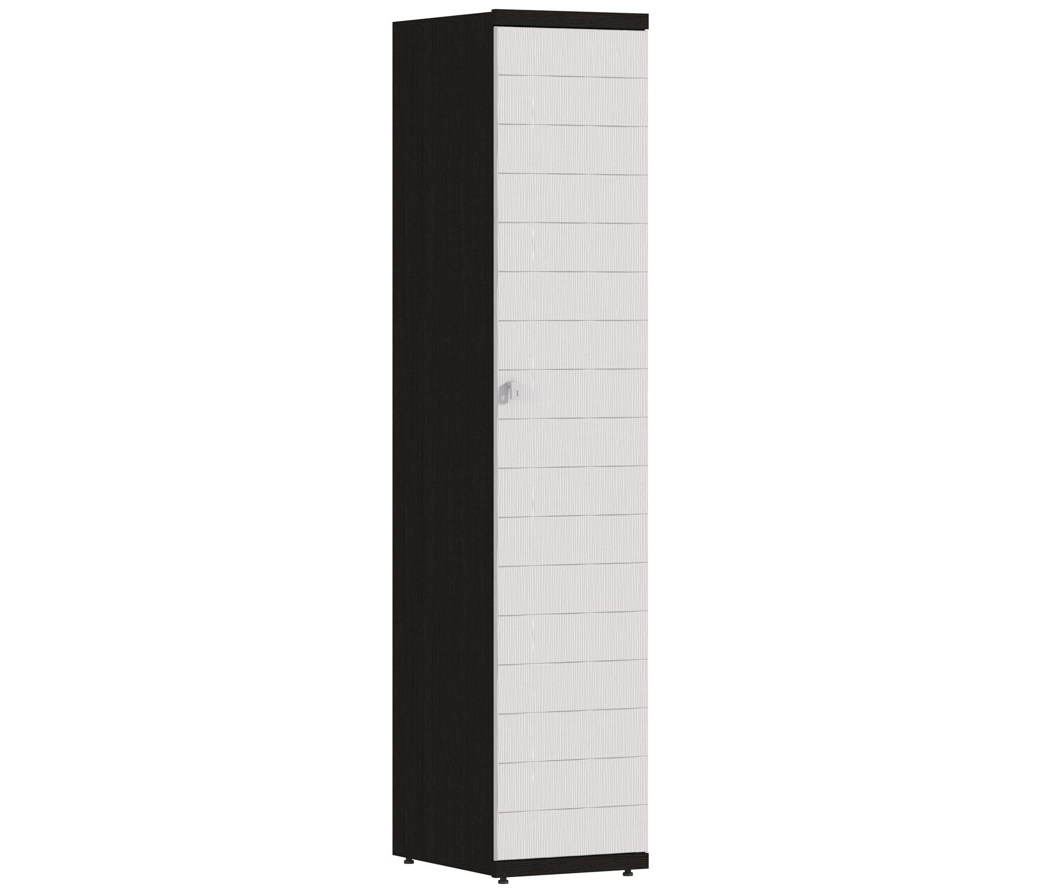 Гретта СБ-637 Шкаф однодверныйШкафы<br>Компактный однодверный шкаф для хранения одежды.<br><br>Длина мм: 450<br>Высота мм: 2241<br>Глубина мм: 580