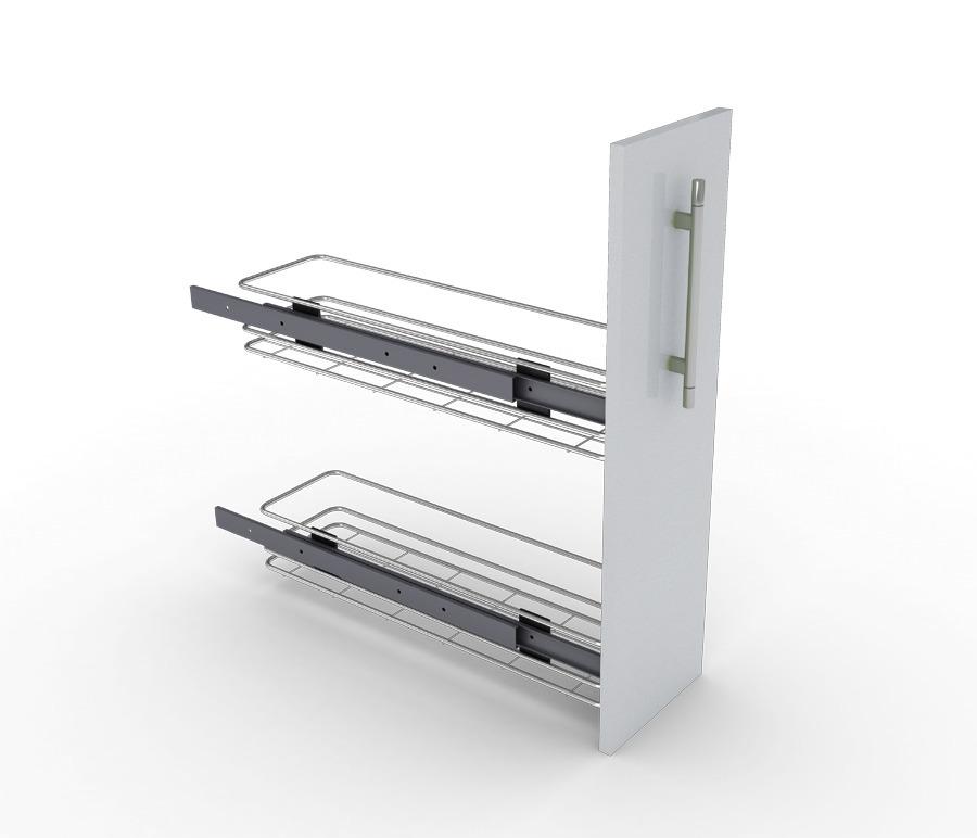 Бутылочница 2-уровневаяМебель для кухни<br>Ручка и фасад приобретаются дополнительно, подходит к столам АС-15 и РС-15.<br><br>Длина мм: 110<br>Высота мм: 470<br>Глубина мм: 485