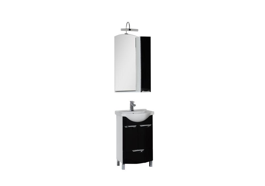 Комплект мебели Aquanet Асти 55 (2 дверцы 1 ящик)Комплекты мебели для ванной<br><br><br>Длина мм: 0<br>Высота мм: 0<br>Глубина мм: 0<br>Цвет: Черный