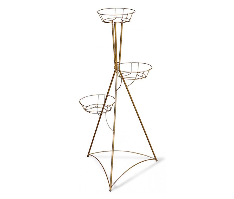 Подцветочница Колонна 3015 трехгоршковаяДачная мебель<br><br><br>Длина мм: 450<br>Высота мм: 1060<br>Глубина мм: 450<br>Цвет: Бронза