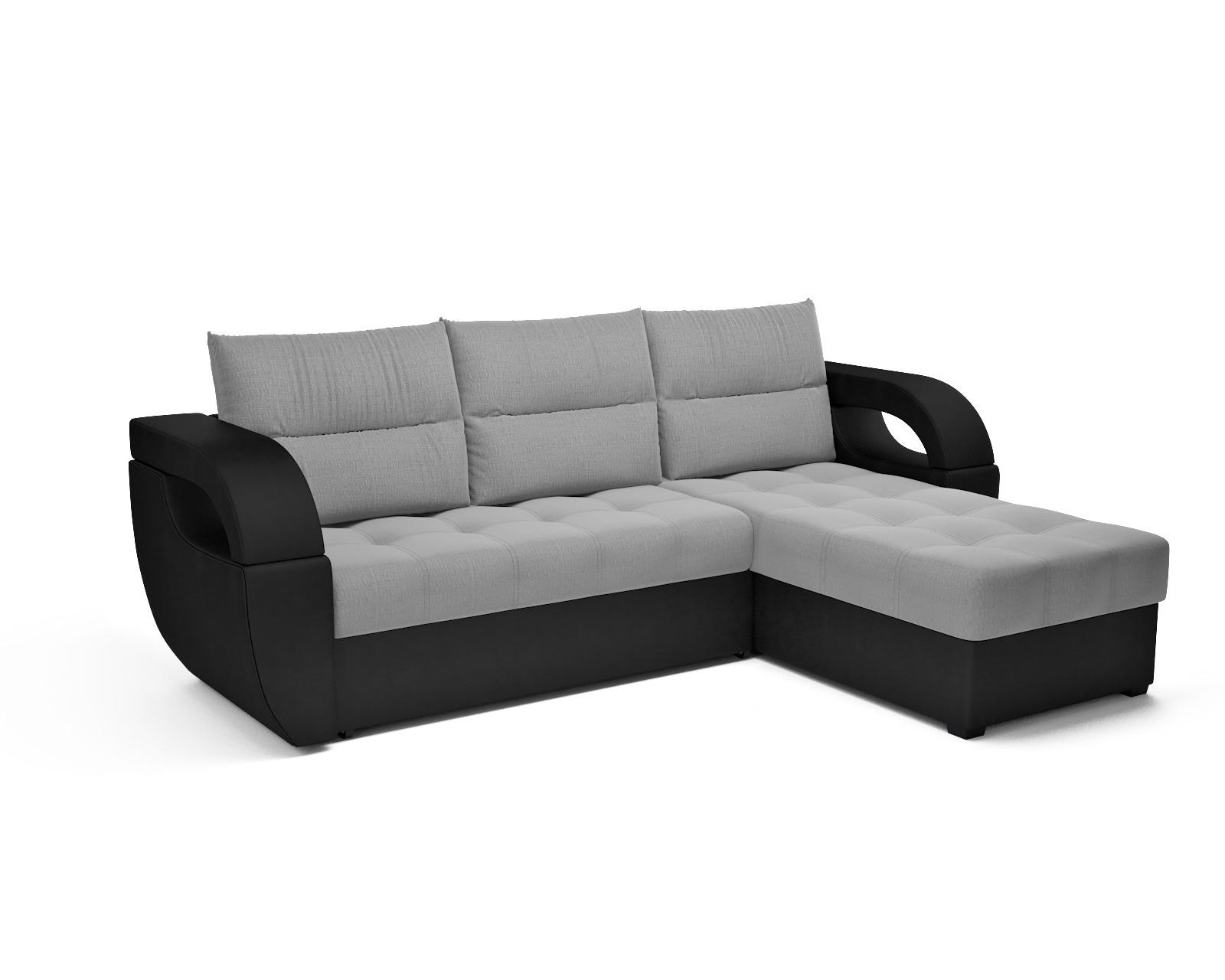 Угловой диван Мартинес (рогожка серая)