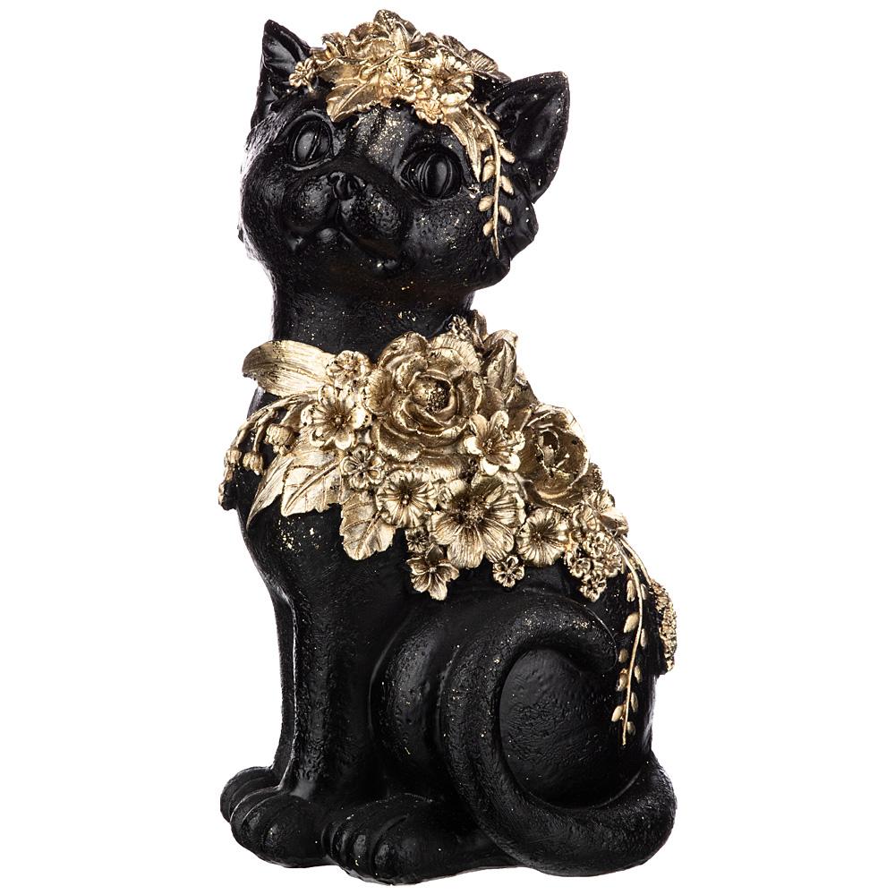 Фото - статуэтка кошка 12,5х11,5х22,5 см коллекция flower fantasy knot side surplice wrap flower print dress