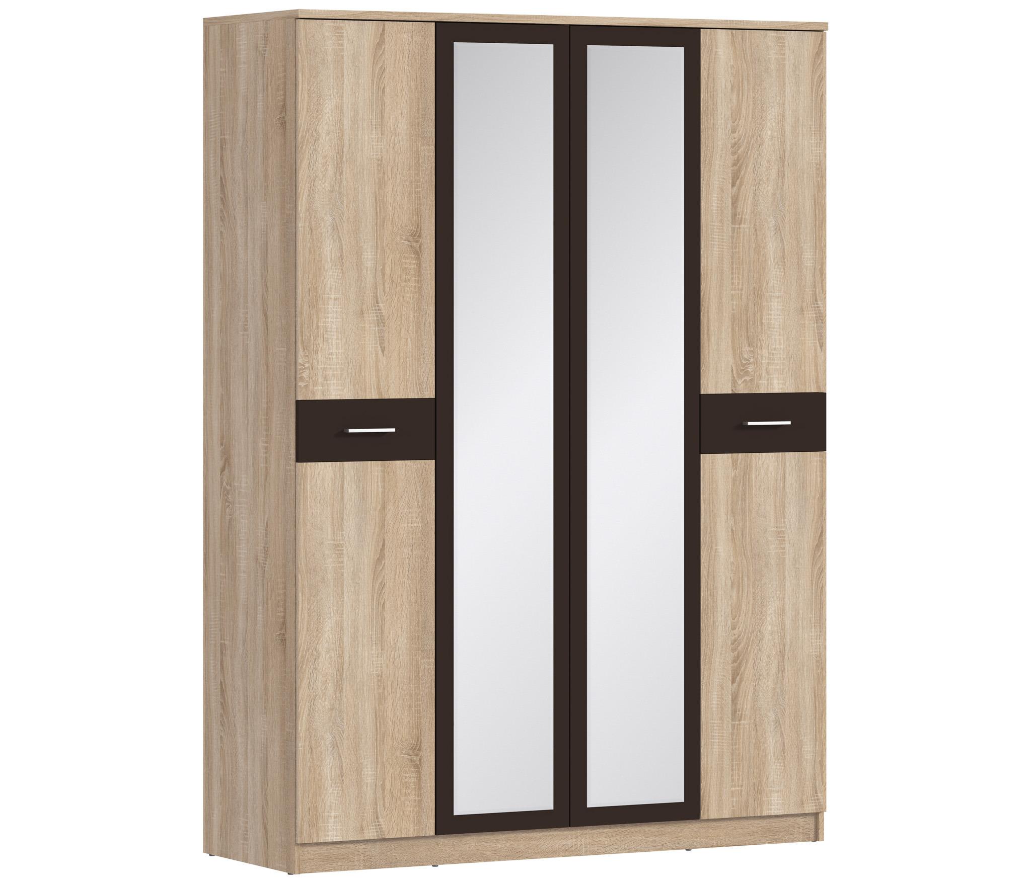 Клео СБ-2006 Шкаф 4-х дверный с зеркаламиШкафы<br>4-х дверный шкаф Клео СБ-20006 с двум зеркалами выполненный из прочных и износостойких листов МДФ, которые гарантируют Вам высокий срок службы.<br><br>Длина мм: 1600<br>Высота мм: 2226<br>Глубина мм: 579