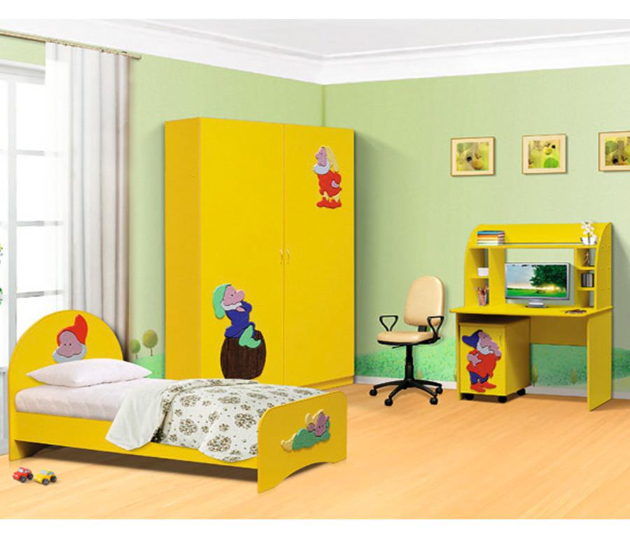 Спальный гарнитур ГномДетские комнаты<br><br><br>Длина мм: 3465<br>Высота мм: 2100<br>Глубина мм: 0