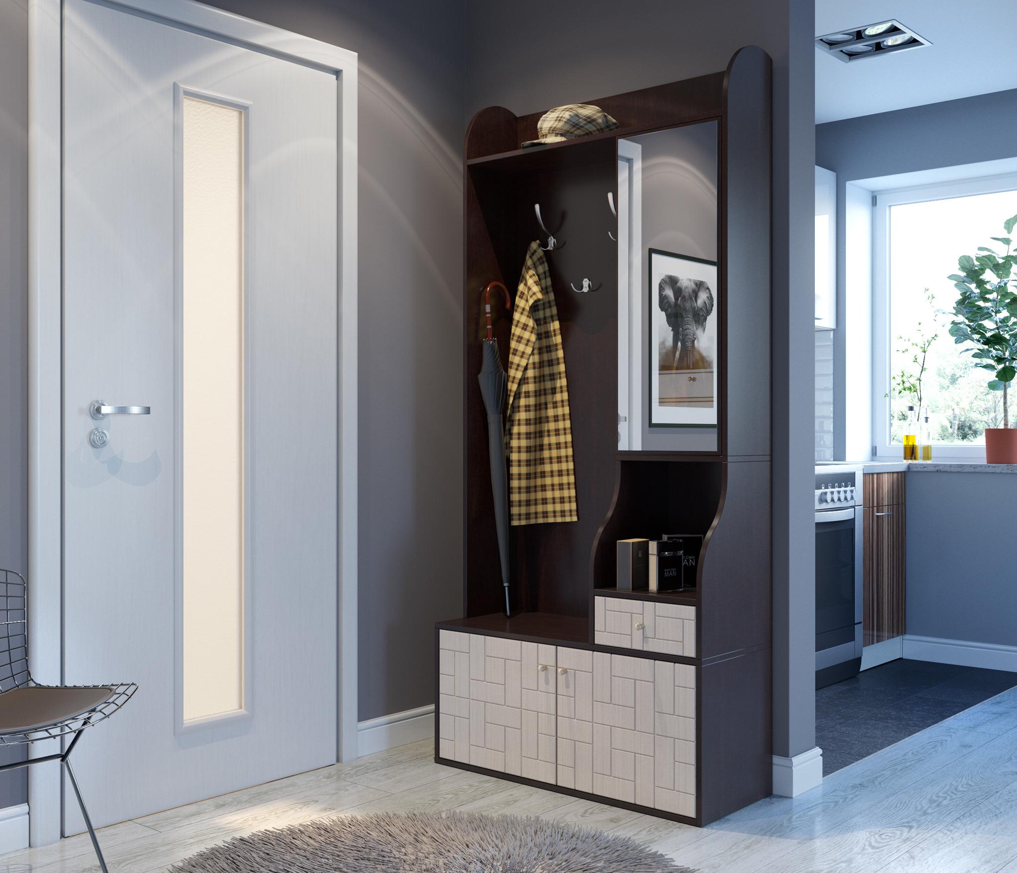 Эквадор СВ-631 шкаф комбинированныйПрихожие<br>Более крупная прихожая, имеющая увеличенное пространство под обувь и несколько полок под мелкие вещи, закрытых зеркалом. Отсутствие цоколя позволяет с легкостью убираться под прихожей, а также хранить в этом месте домашние тапочки.  Материал корпуса ЛДСП,&#13;Цвет корпуса - Венге,&#13;Материал фасада - МДФ,&#13;Цвет фасада - Дуб молочный,     &#13;Длина 900 мм, Высота 2014 мм,Глубина 380 мм&#13;Современный Стиль.&#13;]]&gt;<br><br>Длина мм: 900<br>Высота мм: 2014<br>Глубина мм: 380