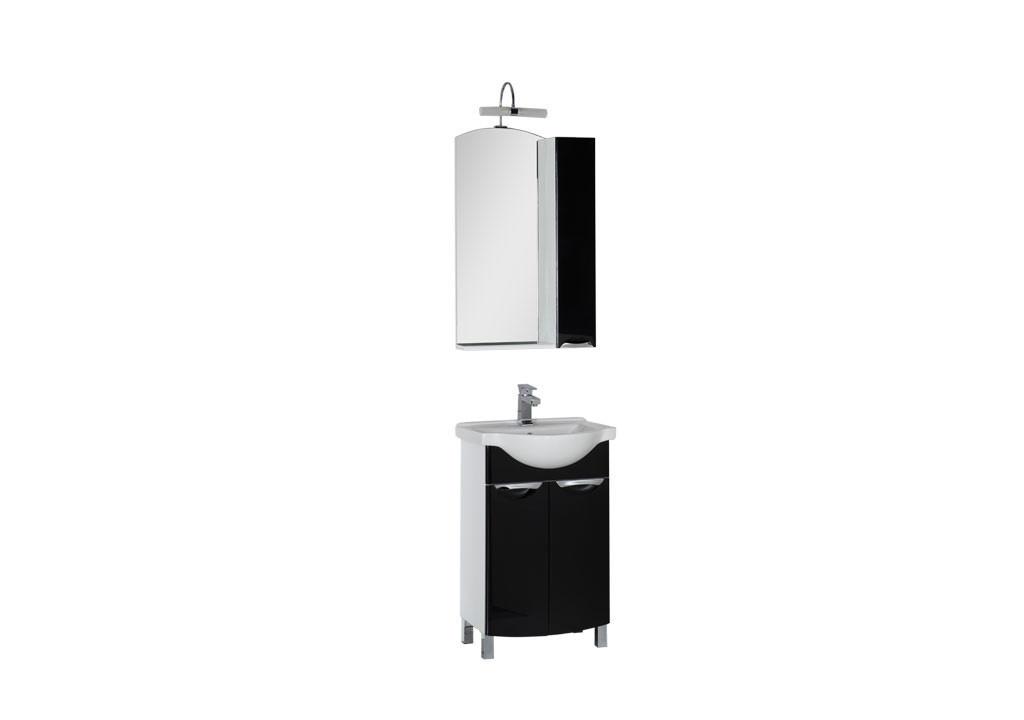 Комплект мебели Aquanet Асти 55 (2 дверцы)Комплекты мебели для ванной<br><br><br>Длина мм: 0<br>Высота мм: 0<br>Глубина мм: 0<br>Цвет: Черный