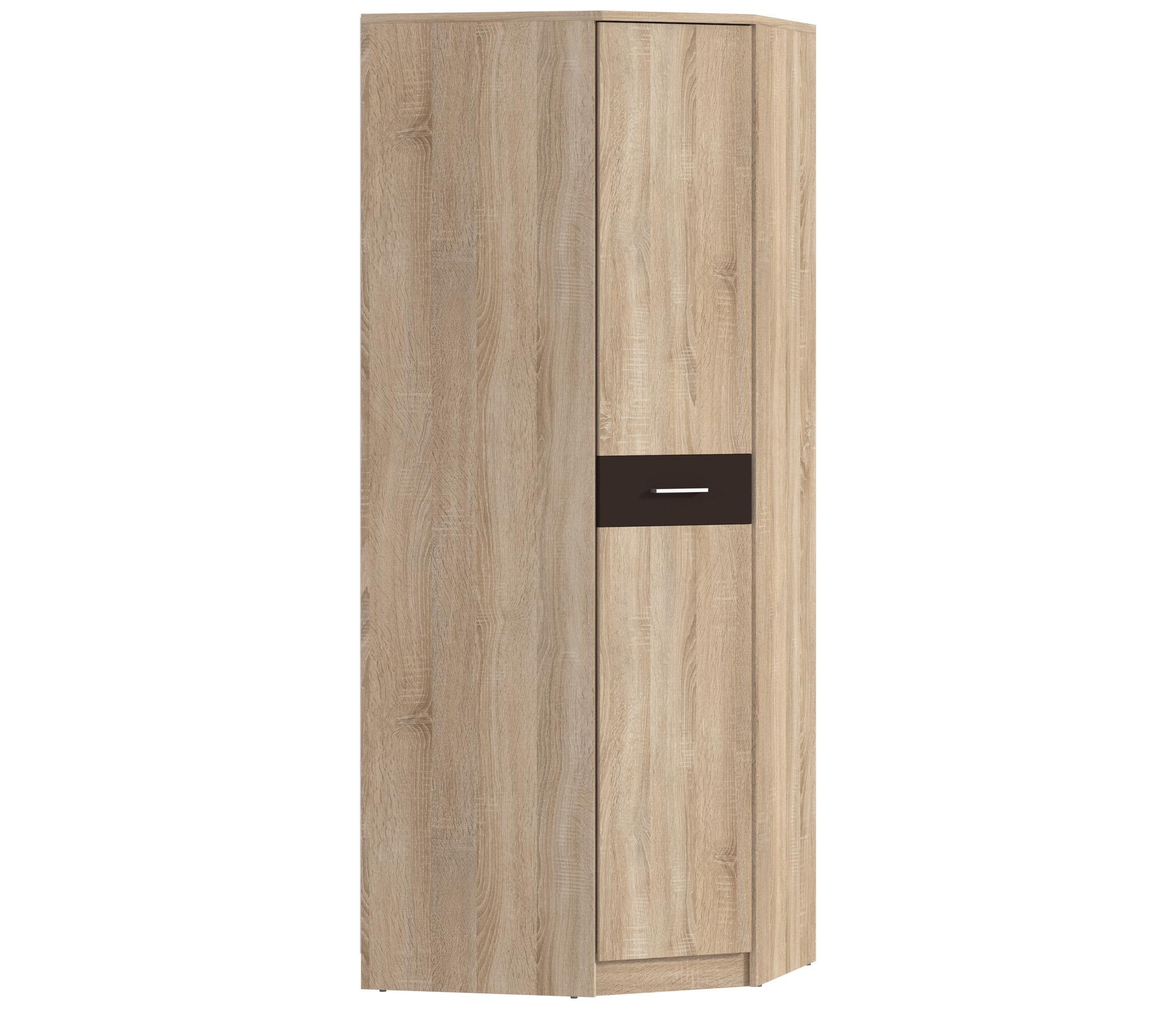 Клео СБ-2005 Шкаф угловойУгловые шкафы<br>Угловой шкаф  Клео СБ-20005  за счет компактной формы прекрасно справится с задачей экономии пространства.<br><br>Длина мм: 856<br>Высота мм: 2226<br>Глубина мм: 856