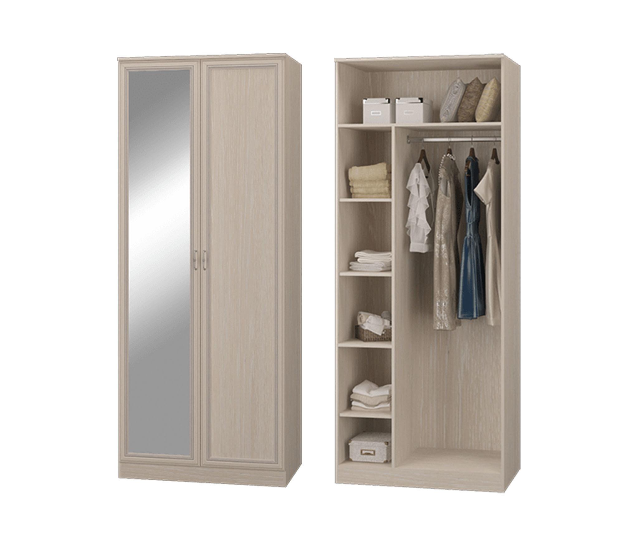 Фото - Шкаф двухдверный с зеркалом гостиная РОВЕНА фирсова в 15 минут перед зеркалом