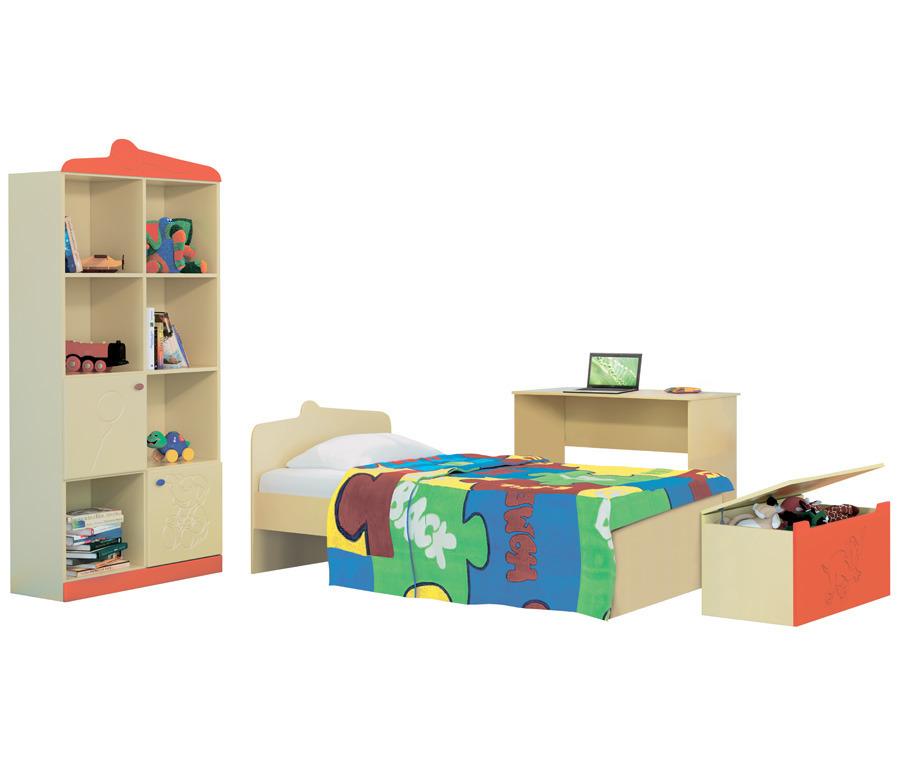 Денди Оранж (стеллаж + кровать + стол + сундук)Детские комнаты<br><br><br>Длина мм: 0<br>Высота мм: 0<br>Глубина мм: 0