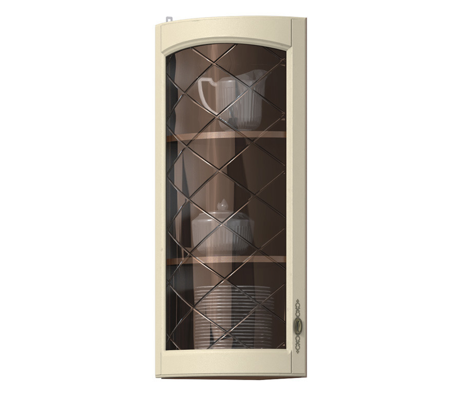 Регина РПТК-130 полка торцевая с гнутой витринойМебель для кухни<br>Торцевая полка  Регина РПТК-130  станет просто незаменимой частью комфорта и уюта на вашей кухне.<br><br>Длина мм: 289<br>Высота мм: 926<br>Глубина мм: 286