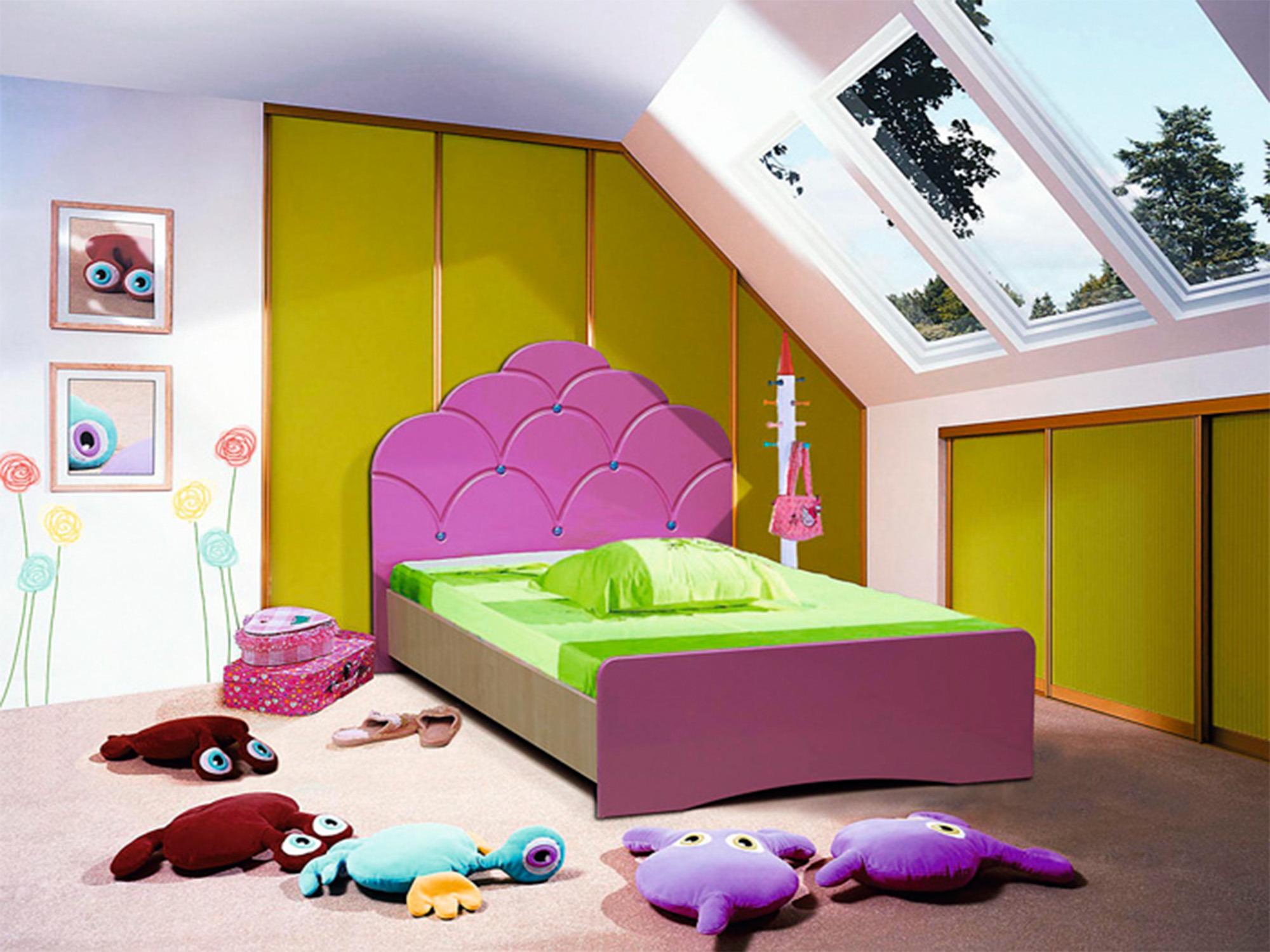 Кровать МальвинаДетские кровати<br><br><br>Длина мм: 975<br>Высота мм: 910<br>Глубина мм: 1750