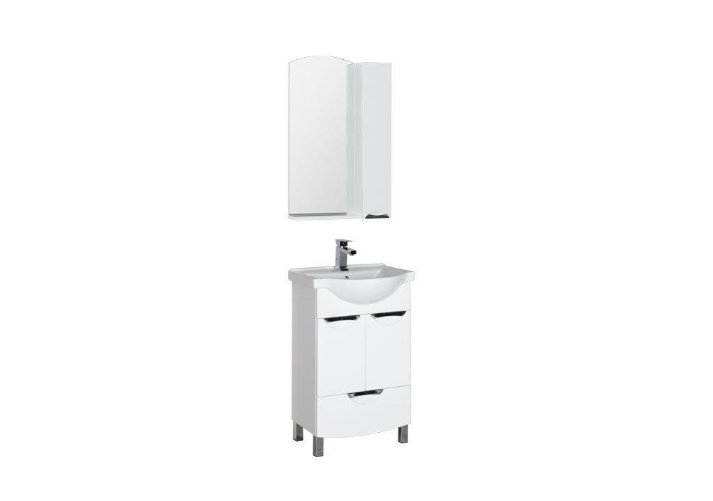 Комплект мебели Aquanet Асти 55 (2 дверцы 1 ящик)Комплекты мебели для ванной<br><br><br>Длина мм: 0<br>Высота мм: 0<br>Глубина мм: 0<br>Цвет: Белый