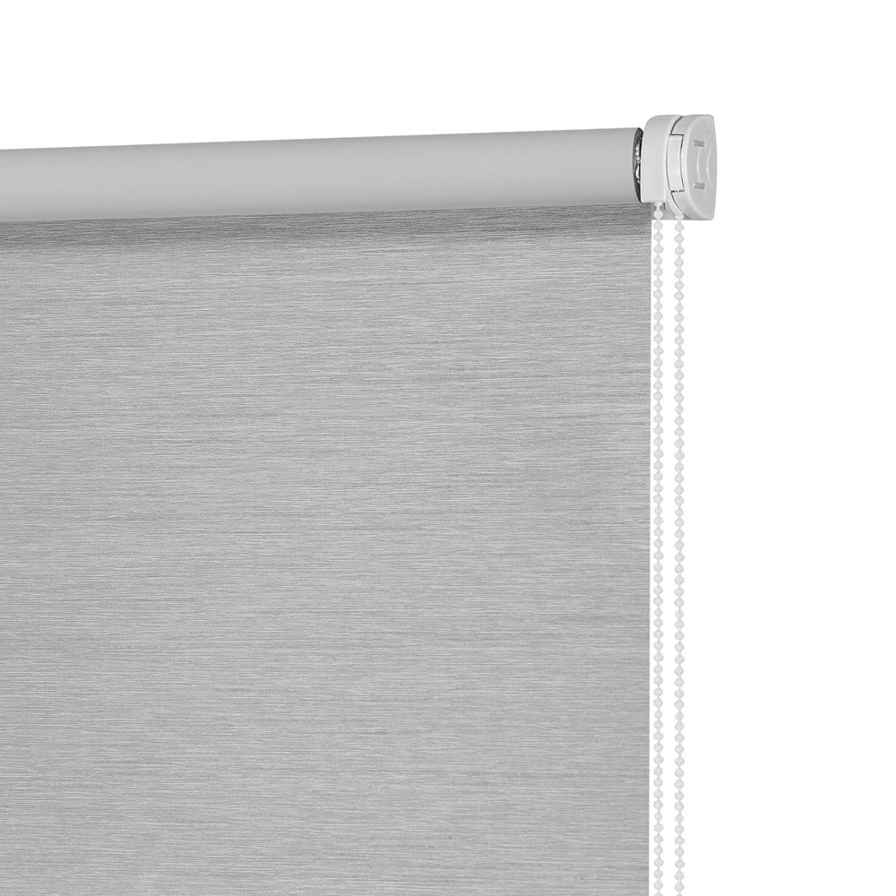 Штора рулонная Блэкаут Сатин Серый 140x175 Столплит А0000011388