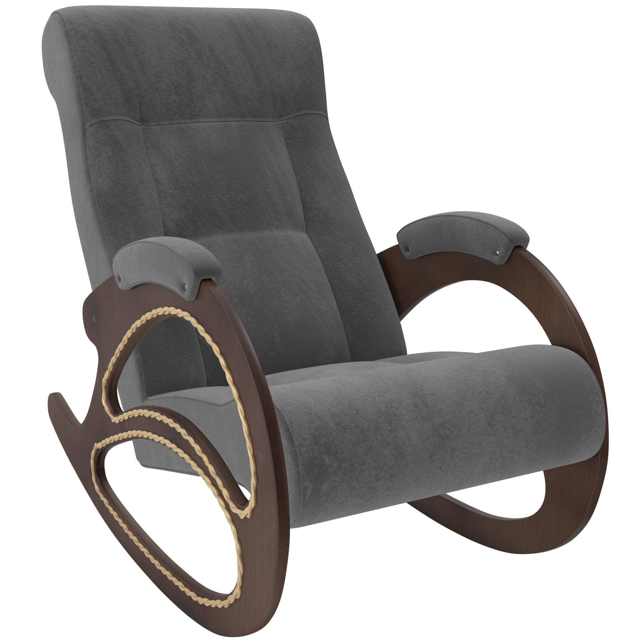 Кресло-качалка модель 4 орех мягкие кресла