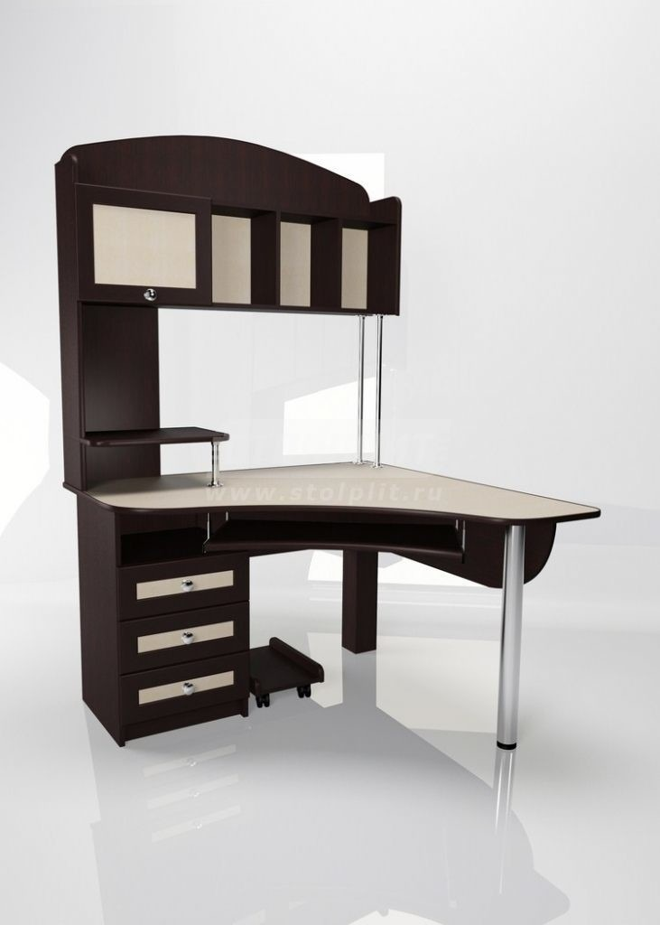 Стол для компьютера МБ – 11Компьютерные столы<br><br><br>Длина мм: 1200<br>Высота мм: 1200<br>Глубина мм: 1840