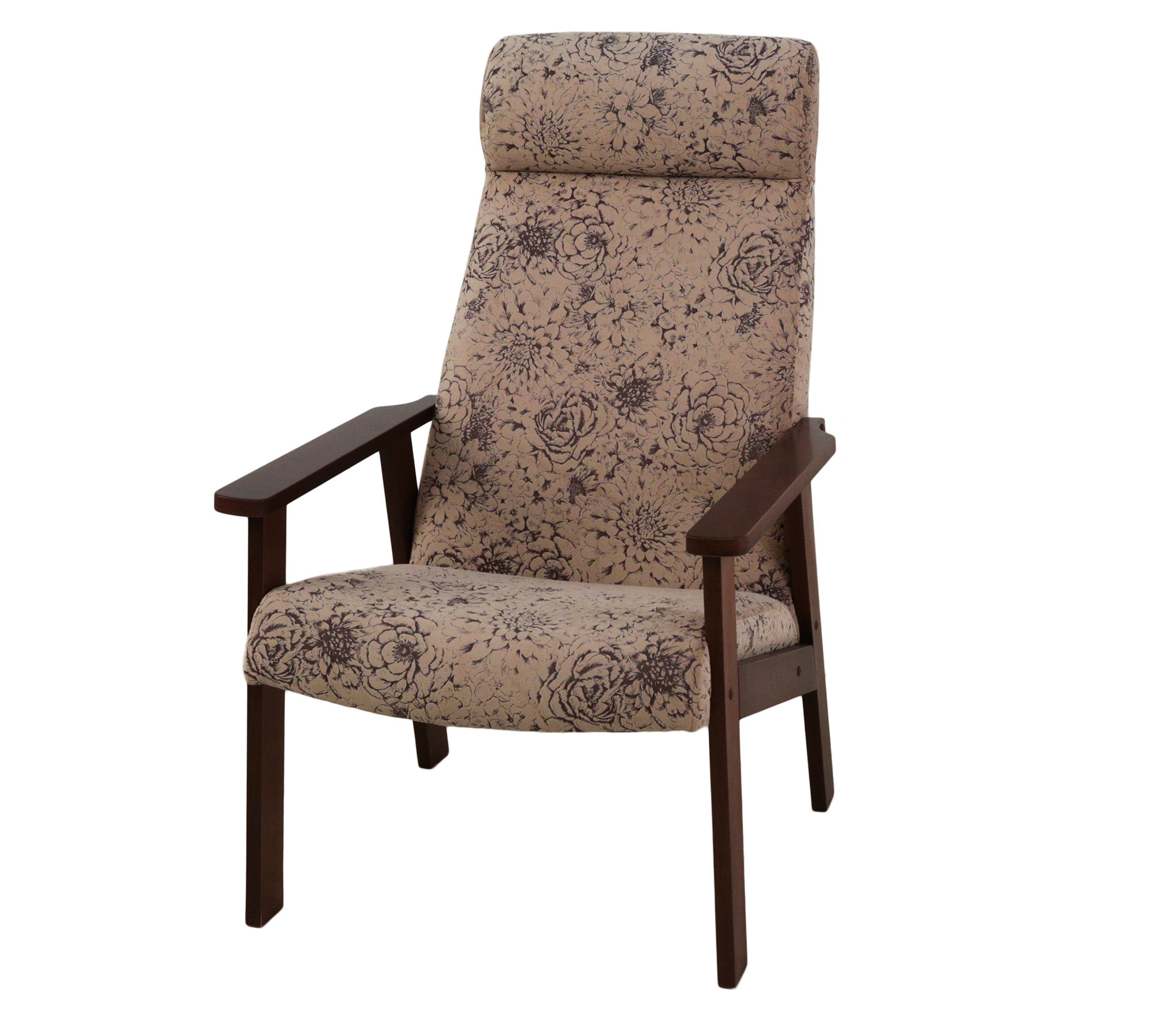 мягкие кресла Кресло для отдыха Вилора, Орех, флок RJB 14-4