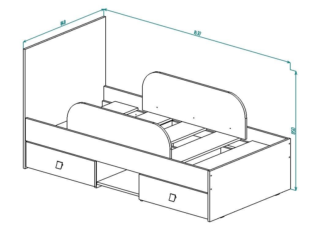 Кровать КР-29 Дружба от Столплит
