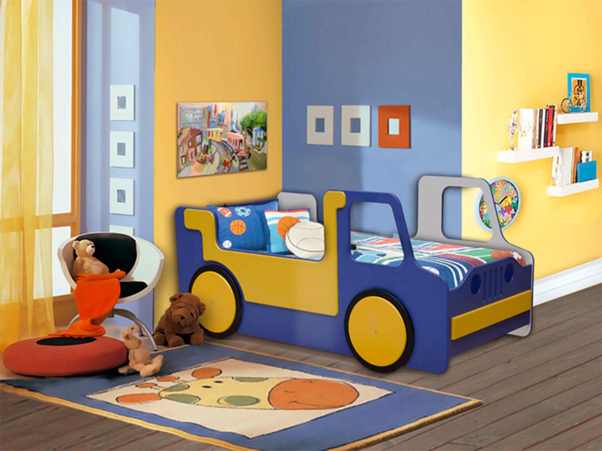 Кровать ГрузовикДетские кровати<br><br><br>Длина мм: 840<br>Высота мм: 805<br>Глубина мм: 1755