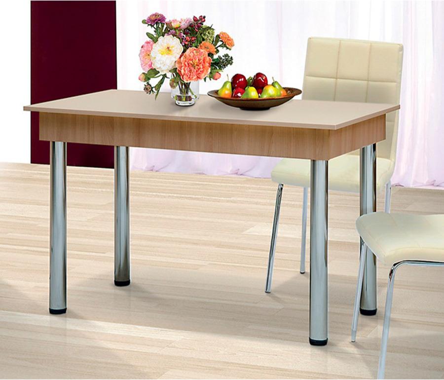 Стол обеденный с хром 1200Столы<br><br><br>Длина мм: 1200<br>Высота мм: 750<br>Глубина мм: 650
