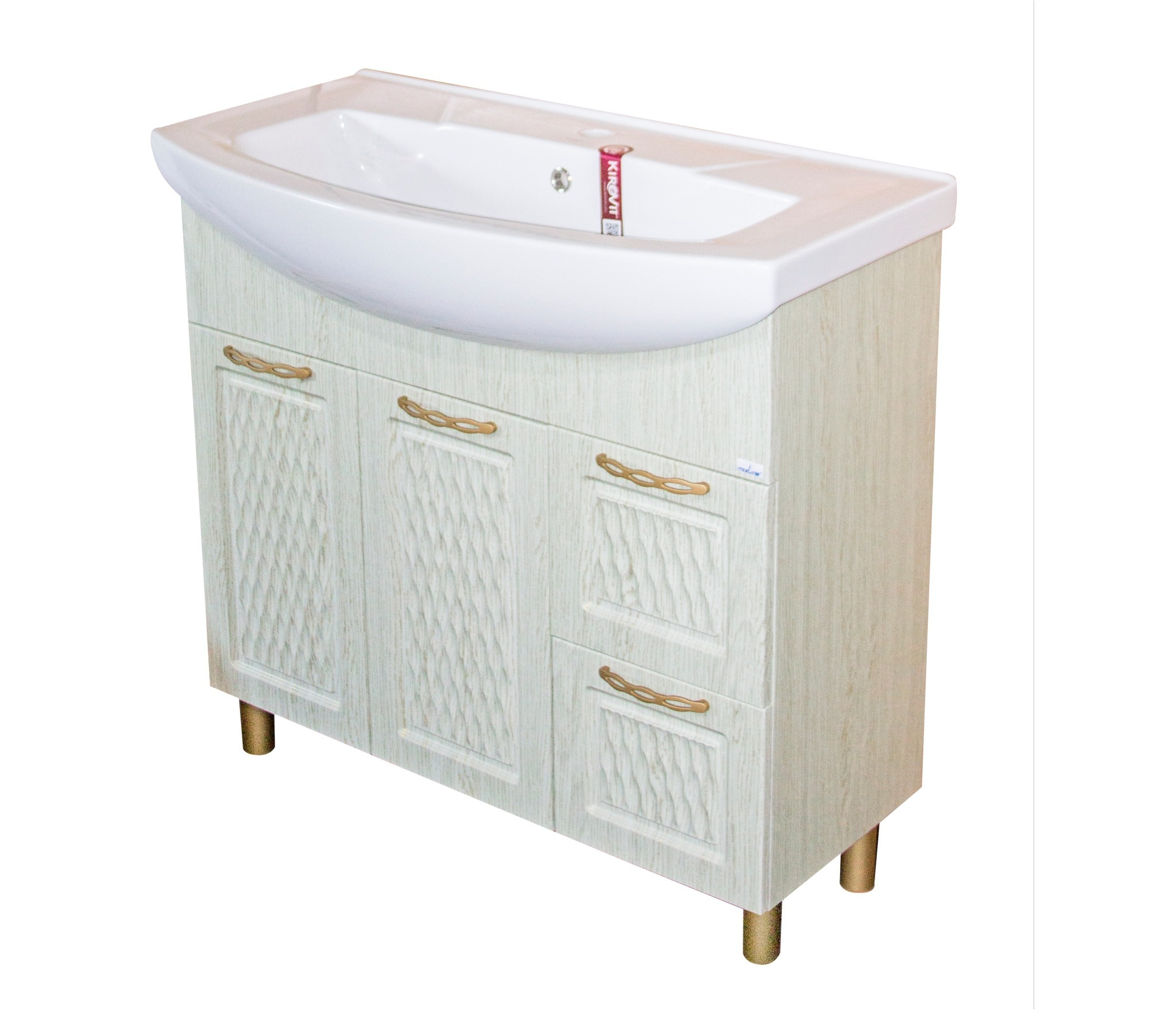 Тумба д/ванной Ладога-75 под ум.Элеганс-75 белая (ПВХ) набор мебели для ванной mixline ладога 75 белый зеркало тумба раковина
