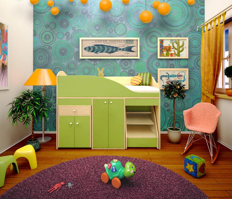 Детский комплекс Вжик со шкафомДетские комнаты<br><br><br>Длина мм: 1640<br>Высота мм: 1160<br>Глубина мм: 740