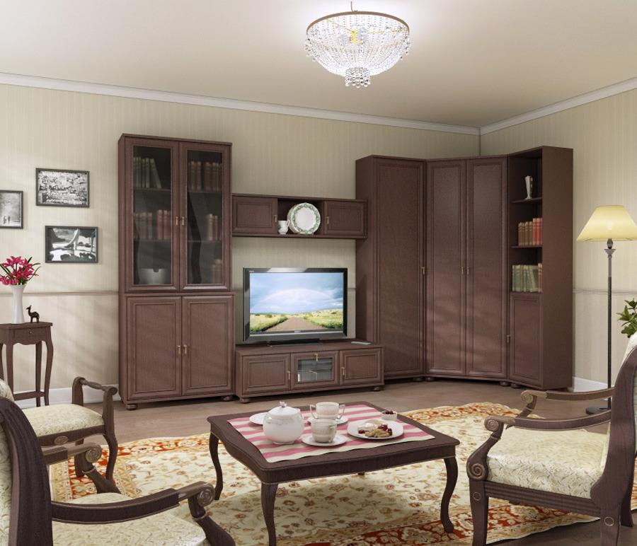 Гостиная Верди 3730*1352Стенки для гостиной<br><br><br>Длина мм: 3730<br>Высота мм: 2190<br>Глубина мм: 1352