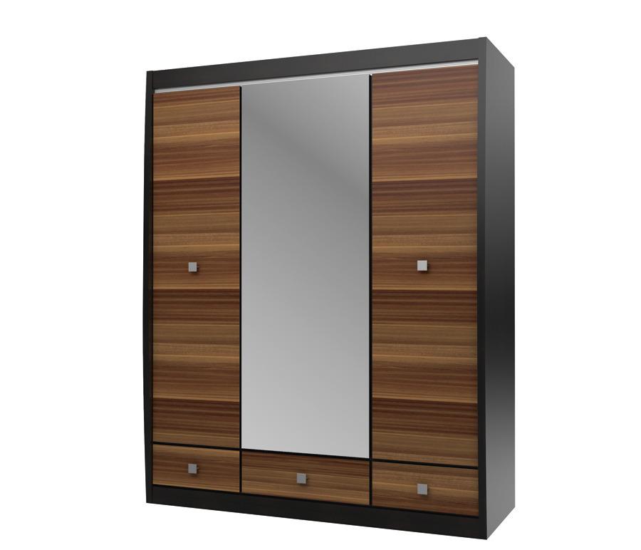Ксено (Корсика) СТЛ.078.16 Шкаф с зеркалом 3-х дверный с 3-мя ящикамиШкафы<br><br><br>Длина мм: 1516<br>Высота мм: 1994<br>Глубина мм: 593