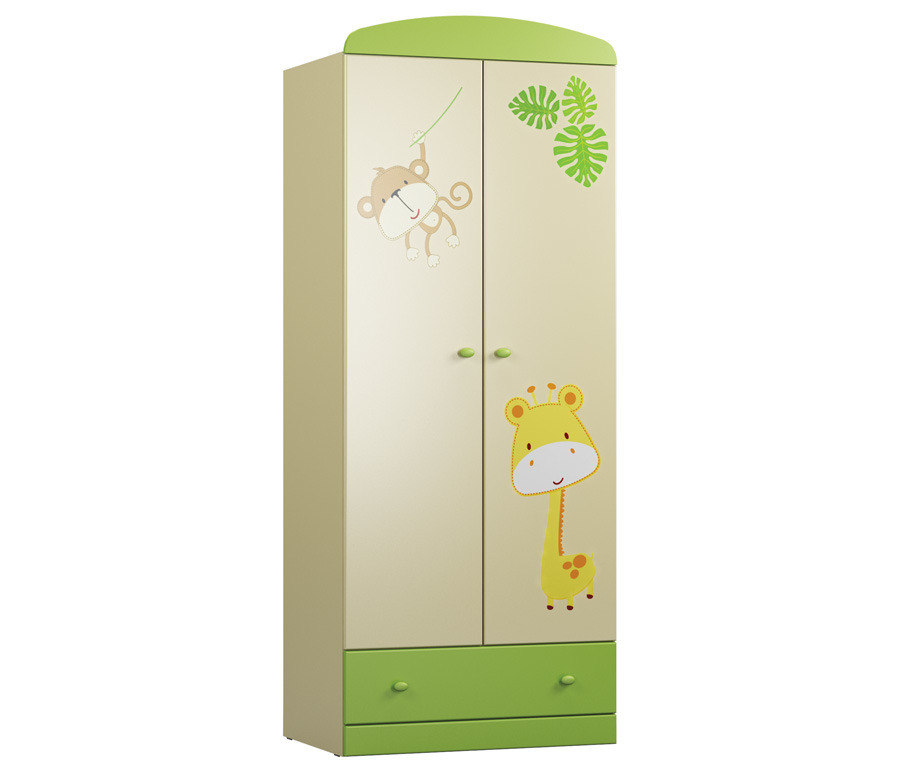 Денди СБ-1406N Шкаф 2-х дверныйШкафы<br>Двухдверный шкаф  Денди СБ-1406N  выполнен в эргономичном и функциональном дизайне, что делает его незаменимым для детской комнаты.<br><br>Длина мм: 780<br>Высота мм: 1988<br>Глубина мм: 523