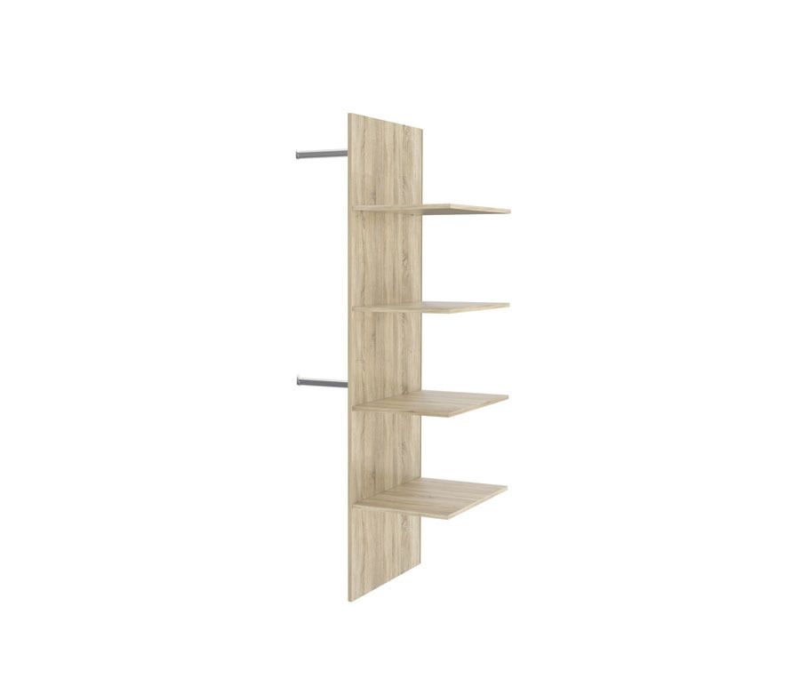Ирма СТЛ.143.13 Стенка вертикальная и полкиМебель для спальни<br><br><br>Длина мм: 760<br>Высота мм: 1730<br>Глубина мм: 574