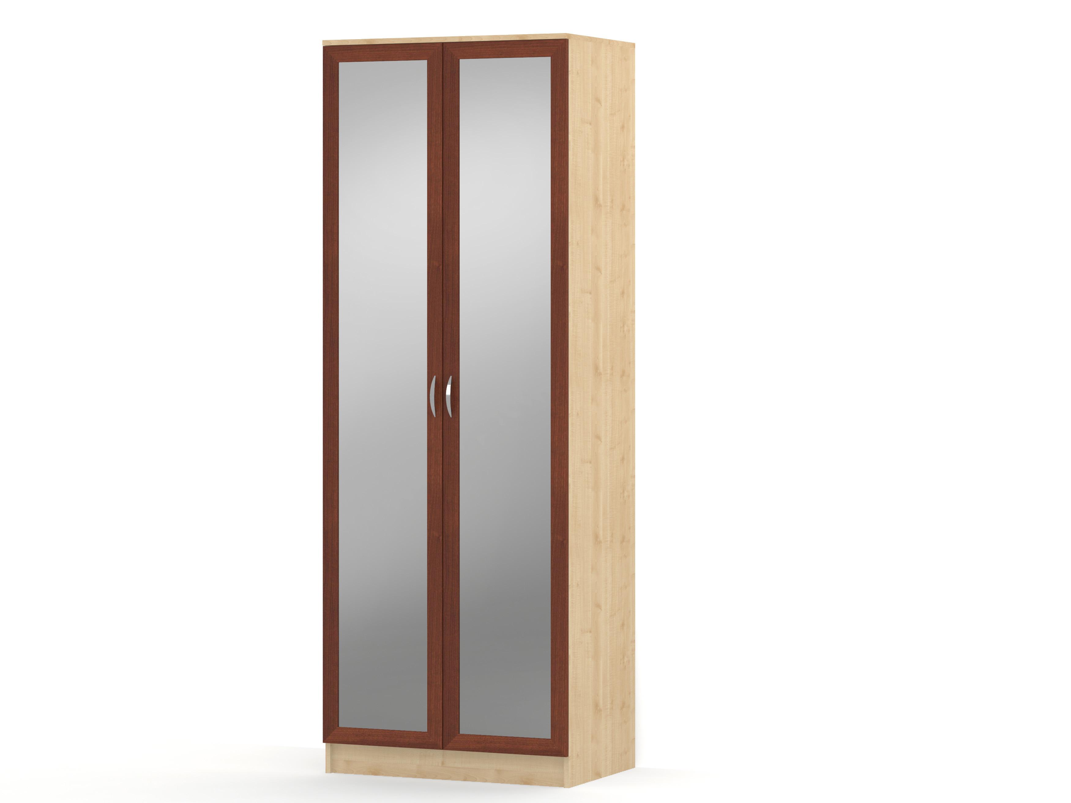 Шкаф распашной 2 двери зеркало (штанга) ГОРИЗОНТ-Р