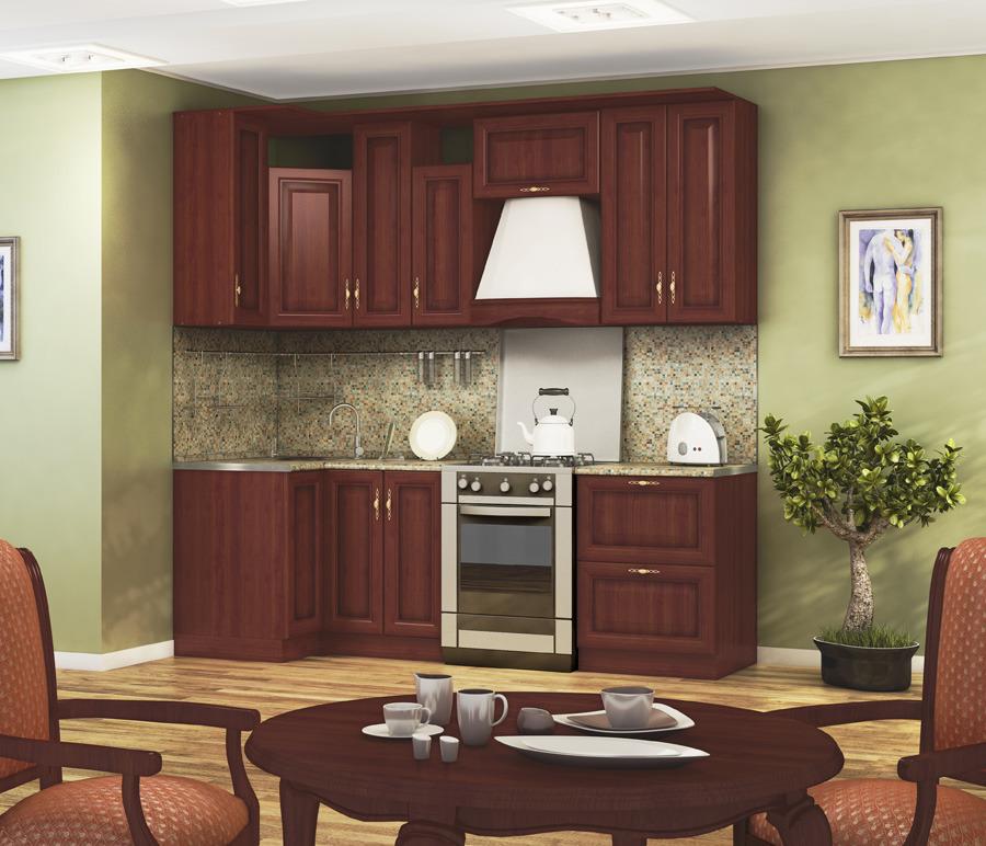 Кухонный гарнитур Регина (Вишня)Кухонные гарнитуры<br>Цена указана за комплект столов и полок.<br><br>Длина мм: 2400<br>Высота мм: 820<br>Глубина мм: 600