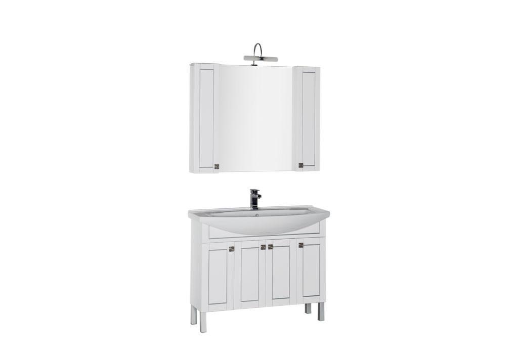 Комплект мебели Aquanet Честер 105 белыйКомплекты мебели для ванной<br><br><br>Длина мм: 0<br>Высота мм: 0<br>Глубина мм: 0<br>Цвет: Белый Глянец