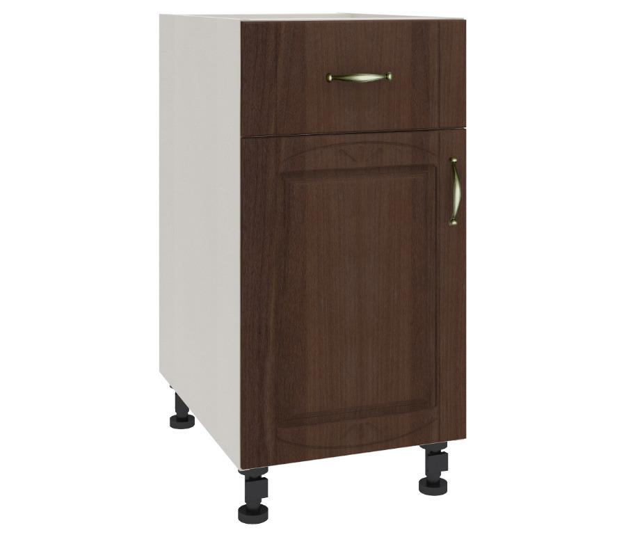 Регина РСДЯ-40 столГарнитуры<br>Удобный стол с выдвижным ящиком и двумя полками, закрытыми дверцами.&#13;Дополнительно рекомендуем приобрести столешницу.<br><br>Длина мм: 400<br>Высота мм: 820<br>Глубина мм: 563